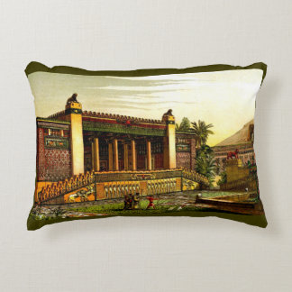 ancient Persepolis print Accent Pillow