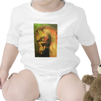 ancient persian horse head baby bodysuits