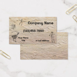 Art history business cards templates zazzle ancient petroglyphs stone background business card reheart Choice Image