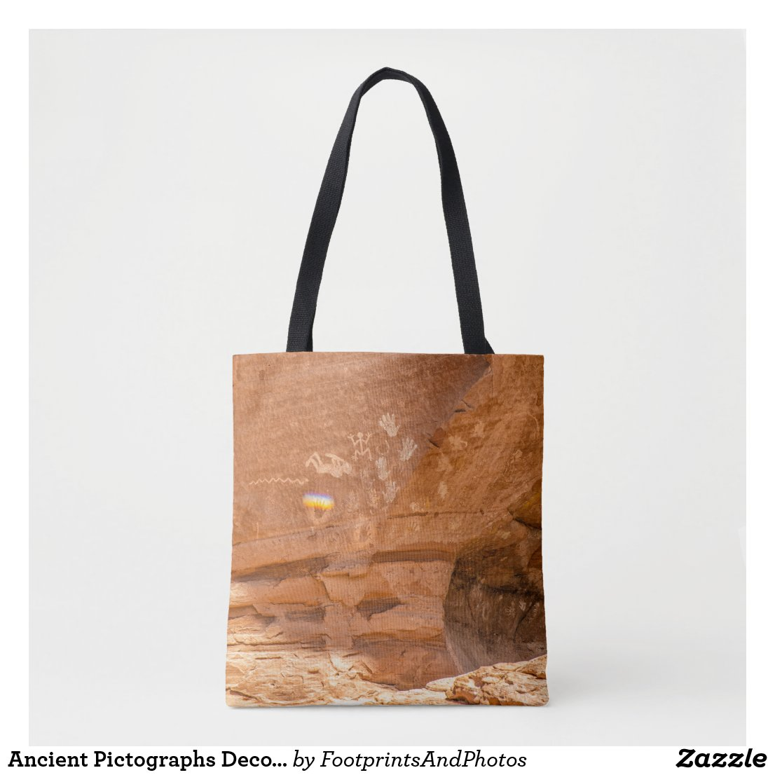 Ancient Pictographs Decorate Canyon de Chelly Tote