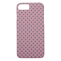 Ancient Pink/Grayish Blue Polka Dot iPhone 7 Case
