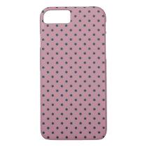 Ancient Pink/Grayish Blue Polka Dot iPhone 7 Case