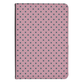 Ancient Pink/Grayish Blue Polka Dot Kindle Folio Kindle Touch Cover