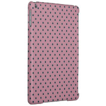 Ancient Pink/Grayish Blue Polka dot pattern iPad Air Cover