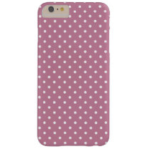 Ancient Pink/White Polka Dot Barely There iPhone 6 Plus Case