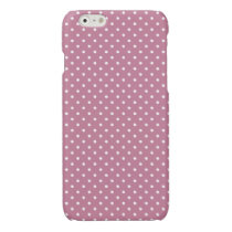 Ancient Pink/White Polka Dot iPhone 6 Glossy Case