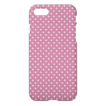 Ancient Pink/White Polka Dot iPhone 7 Glossy Case