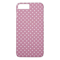 Ancient Pink/White Polka Dot iPhone 7 Plus Case
