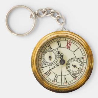 Ancient Pocket Watch Basic Round Button Keychain