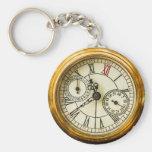 Ancient Pocket Watch Key Chain