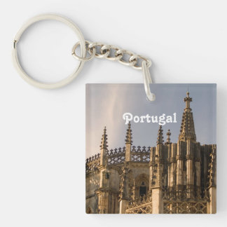 Ancient Portugal Single-Sided Square Acrylic Keychain