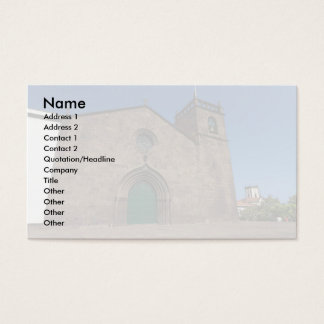 Ancient portuguese catholic church business card