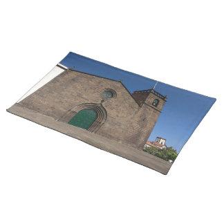 Ancient portuguese catholic church cloth place mat