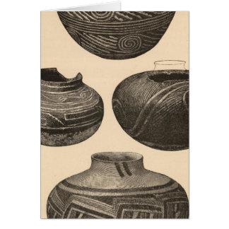 Ancient pottery, Tusayan Greeting Card
