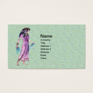 Ancient Pretty Egyptian Lady Princess in Purple Business Card
