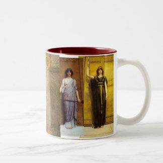 Ancient Priestess Sacred Feminine Holy Grail Two-Tone Coffee Mug