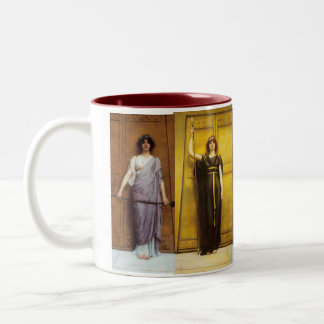 Ancient Priestess Sacred Feminine Two-Tone Coffee Mug