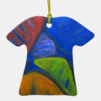 Ancient Protista Family (abstract expressionism) Ceramic Ornament