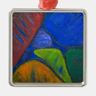 Ancient Protista Family (abstract expressionism) Metal Ornament