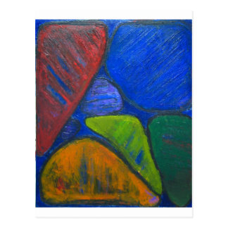 Ancient Protista Family (abstract expressionism) Postcard