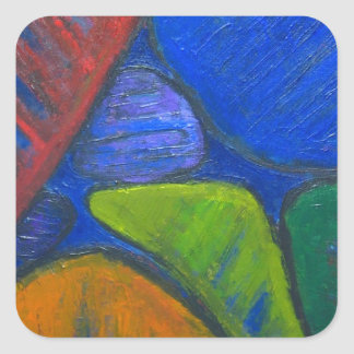 Ancient Protista Family (abstract expressionism) Square Sticker