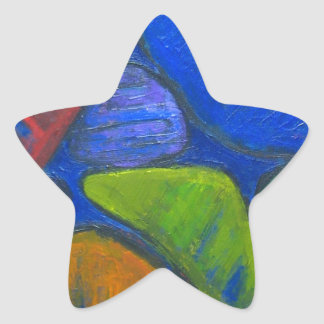 Ancient Protista Family (abstract expressionism) Star Sticker