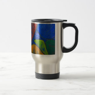 Ancient Protista Family (abstract expressionism) Travel Mug