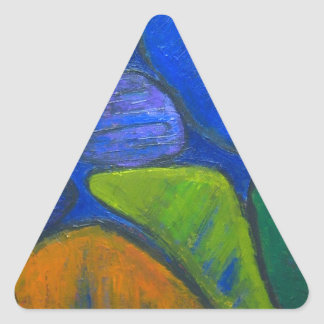 Ancient Protista Family (abstract expressionism) Triangle Sticker