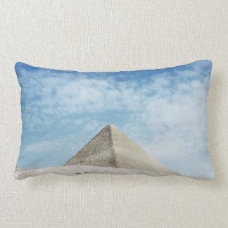 Ancient Pyramid Egypt, Giza Magnificent Ruin Lumbar Pillow