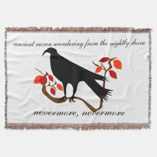 Ancient Raven Throw Blanket