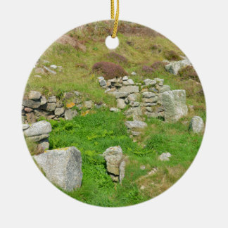Ancient Remains In The Isles Of Scilly Ceramic Ornament
