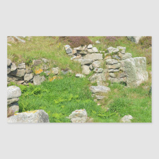 Ancient Remains In The Isles Of Scilly Rectangular Sticker