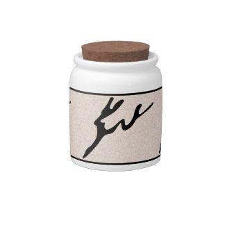 Ancient Rock Art Candy Jar