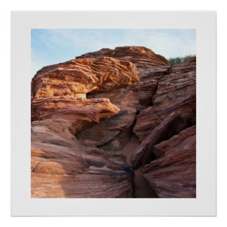 Ancient Rock Layers Square Posters