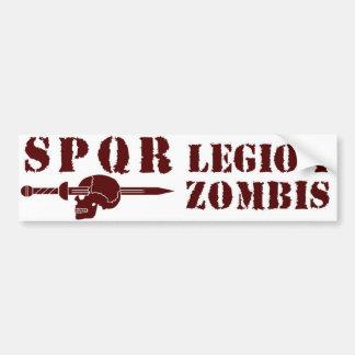 Ancient Roman 1st Zombie-Hunting Legion Car Bumper Sticker