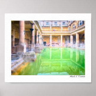 Ancient Roman Baths - Bath, England Small Print