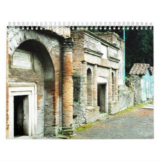 Ancient Roman City - Pompeii Calendars