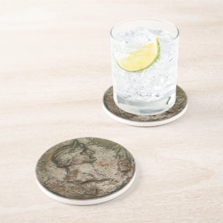 Ancient Roman Coin Drink Coaster