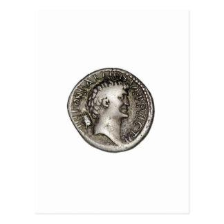 Ancient Roman Coin Marc Antony Postcard