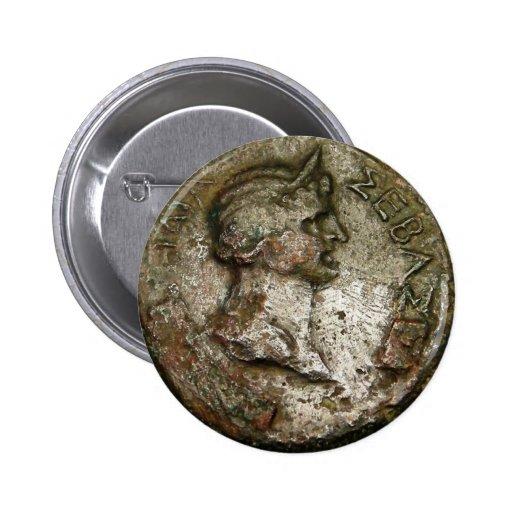 Ancient Roman Coin Pinback Button