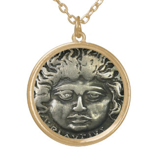ANCIENT ROMAN COIN ROUND PENDANT NECKLACE