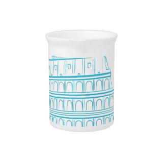Ancient Roman Colosseum Landmark Pitcher