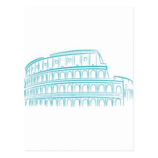 Ancient Roman Colosseum Landmark Postcard