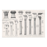 Ancient Roman Columns Architectural Drawing Stationery
