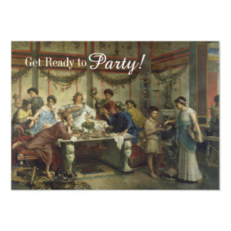 Ancient Roman Dinner Party Feast 5x7 Paper Invitation Card