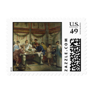 Ancient Roman Dinner Party Feast Postage