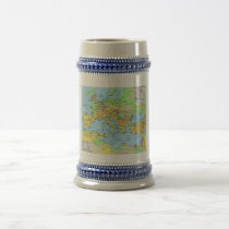 Ancient Roman Empire Map Decorative Drinking Stein