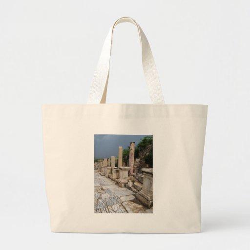 Ancient Roman road in the city of Ephesus, Turkey Jumbo Tote Bag