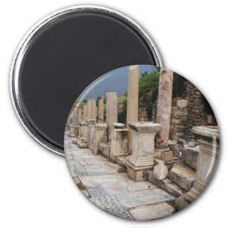 Ancient Roman road in the city of Ephesus, Turkey Magnet