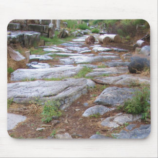 Ancient Roman road in the city of Ephesus, Turkey Mouse Pad